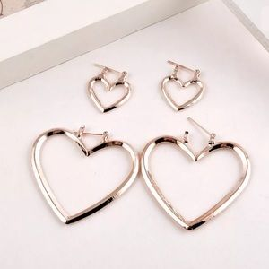 Large Heart Shaped Fashion Hoop Earrings